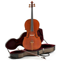 Deluxe 4/4 Cello with Case by Gear4music - Ex Demo