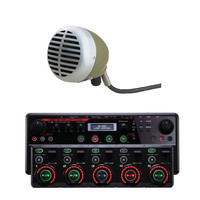 Boss RC-505 Loop Station and Shure Green Bullet