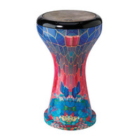 Remo 9 Inch Crystal Doumbek Sapphire Ruby