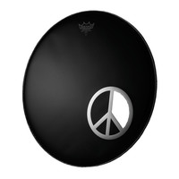 Remo 6 Inch Peace Sign Dynamo-Ring Chrome