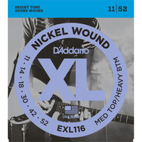 DAddario EXL116 Nickel Wound Medium Top/Heavy Bottom 11-52