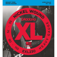 DAddario EXL230 Bass Guitar Strings Heavy 55-110 Long Scale