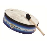 Remo 3.5 Inch x 12 Inch Health Rhythms Buffalo Drum