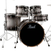 Pearl Vision Maple 22 American Fusion Shell Pack Black Silverburst