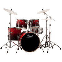 Pearl Vision Birch Lacquer VBL 22 Rock Drum Kit Ruby Fade