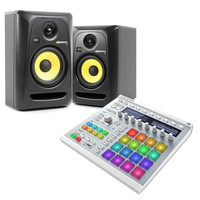 Native Instruments Maschine MK II (White) and KRK Rokit 5 Bundle